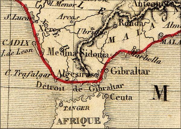 histoire de Gibraltar (Royaume Uni - Espagne) vers 1860 - l'Europe de la Poste vers 1860