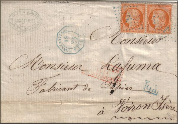 lettre de Constantinople / Istanbul à Voiron (Isère - France) du 18