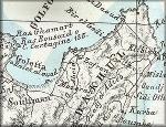 Tunisie / Tunis / Tunisia / Tunisi / Etat de Tunis / Stato di Tunisi - carte geographique ancienne italienne de Benedetto Marzolla de 1849 (en provenance du site cartographique David Rumsey Historical Maps)